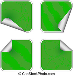 Sticky Green Labels