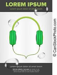 Green Headphones design