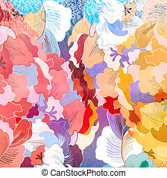 abstract colorful background - watercolor vintage retro...