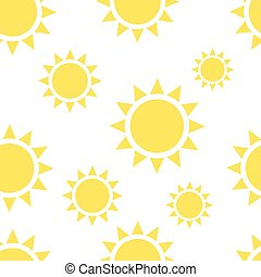 Beautiful suns seamless pattern