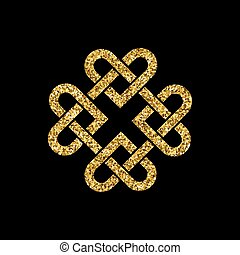 Gold glitter celtic knot - Celtic knot made from...