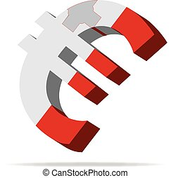 Malta Euro symbol - 3D Illustration of the Euro Symbol with...