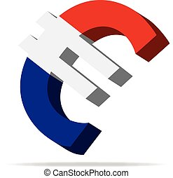 Netherlands Euro symbol - 3D Illustration of the Euro Symbol...