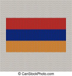 Knitted Armenia Flag - Knitted Armenian flag pattern.