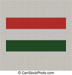 Knitted Hungarian Flag - Knitted Hungary flag pattern