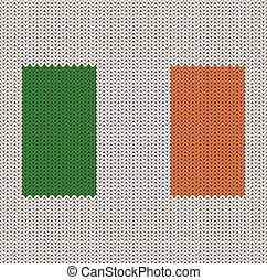 Knitted Irish Flag - Knitted Ireland flag pattern.
