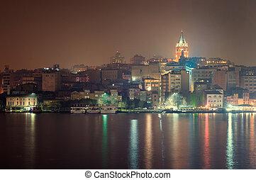 Galata Tower in night Istanbul