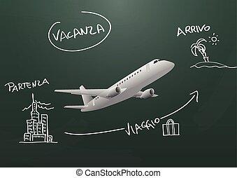travel chalkboard ita
