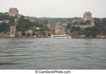 Bosphorus - stone fortress on the banks of the Bosphorus