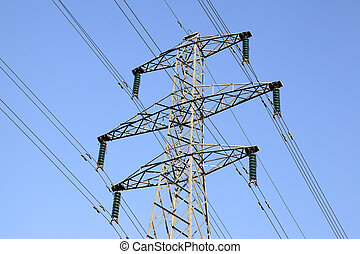 electricity pylon queens drive nottingham england uk