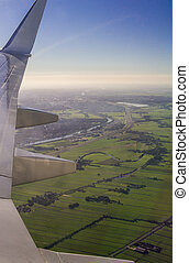 Amsterdam North Holland Aerial View - Winglet Wingtip and...