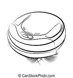 Robotic vacuum cleaner - Drawing of the robotic vacuum...