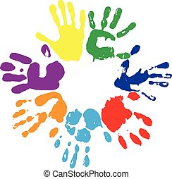 rainbow fingerprints - EPS 10 vector multicolored...