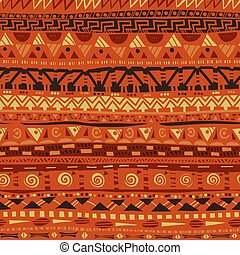 primitive folk african geometric seamless pattern
