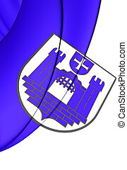 Flag of Ravensburg Baden-Wurttemberg, Germany - 3D Flag of...