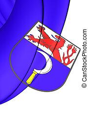 Flag of Remscheid (North Rhine-Westphalia), Germany. - 3D...
