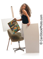 Painter woman