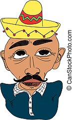 Mexican man caricature Latinos - Mexican people Mexican man...