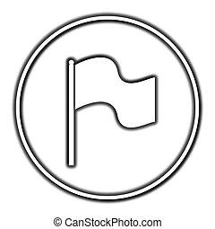 Flag icon Internet button on white background