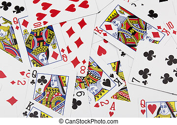 Collage of tradional playing cards