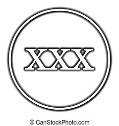 xxx icon Internet button on white background