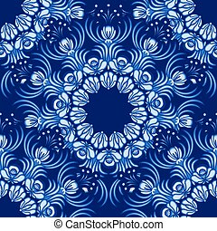 Seamless background Floral pattern of circular ornaments...