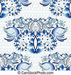 Seamless pattern imitation of painting on porcelain in the...