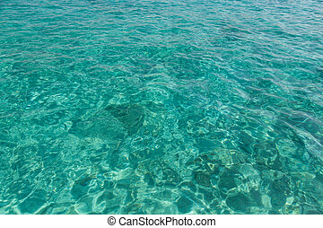 Sea - Surface of Aegean Sea  in Green Color