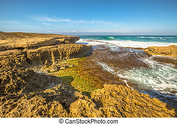 Port Campbell Victoria - Sherbrooke River Beach in Loch Ard...