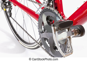 Cycling Concept. Crankset and Rear Cassette with New Chain....