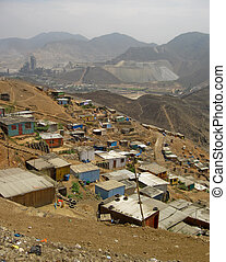 Shanty Town in  Lima, Peru, South America