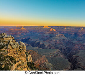 Grand Canyon Sunrise from Mather Point - Amazing Susnrise...