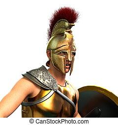 Gladiator - 3D CG rendering of a gladiator