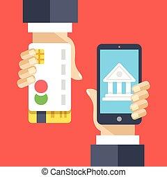 Mobile banking, internet banking