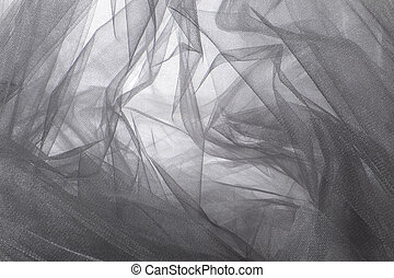 Tulle Fabric Background and Texture - Gray Tulle Fabric...