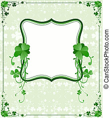 St Patrick`s Day frame, vector - vector vintage style St...