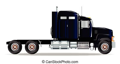 Truck Tractor Unit - The front end of a large lorry over a...