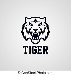 wild tiger logotype theme vector art illustration