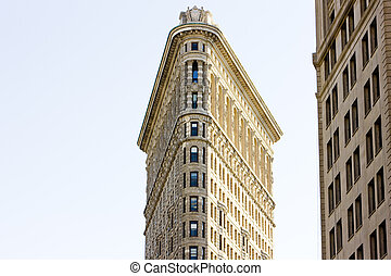 detail of Flatiron building, Manhattan, New York City, USA
