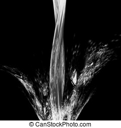 Water Splashing - Black