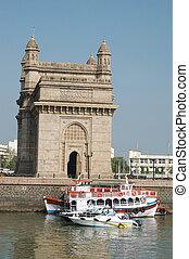 entrada, India, Bombay, (Mumbai)