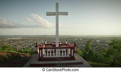 5 Wooden Cross On Holguin Hill In Cuba