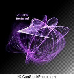 Vector Abstract Curved Lines - Magic abstract neon light...
