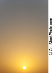 Classic Sunset or Sunrise Image - Photograph showing a...
