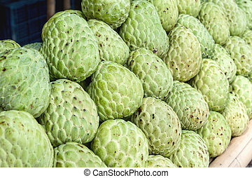 custard apples in Thailand fruit market