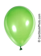 Inflatable balloon, photo on the white backgroud
