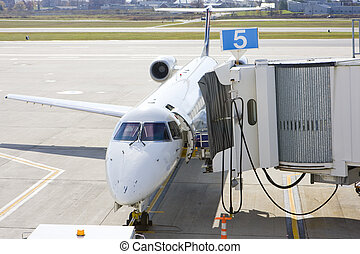 airport in Portland; Maine; USA - airport in Portland,...