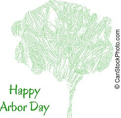 tree Arbor Day - Sketch stylized vector tree for a Happy...