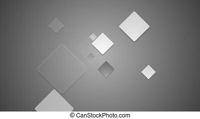 Abstract grey squares video animation - Abstract grey...