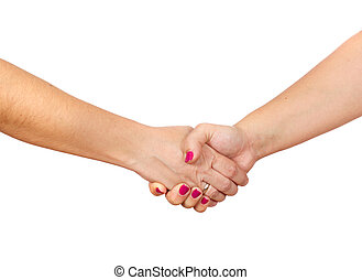 woman hands, photo on the white background